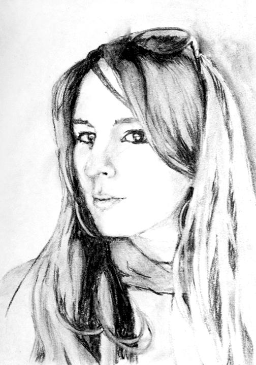 Portrait   vine charcoal on heavyweight rag paper