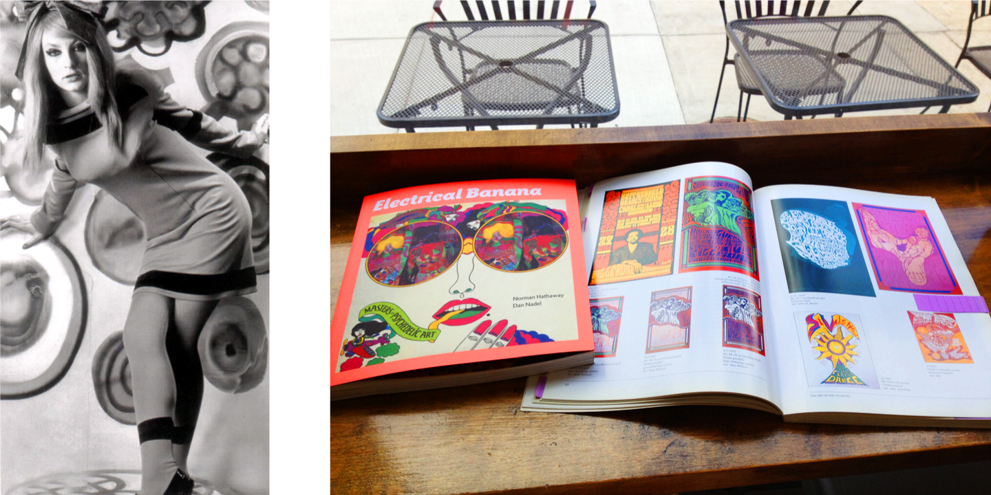 Left to Right: Maijke Koger | Electrical Bananana & The Art of the Fillmore books