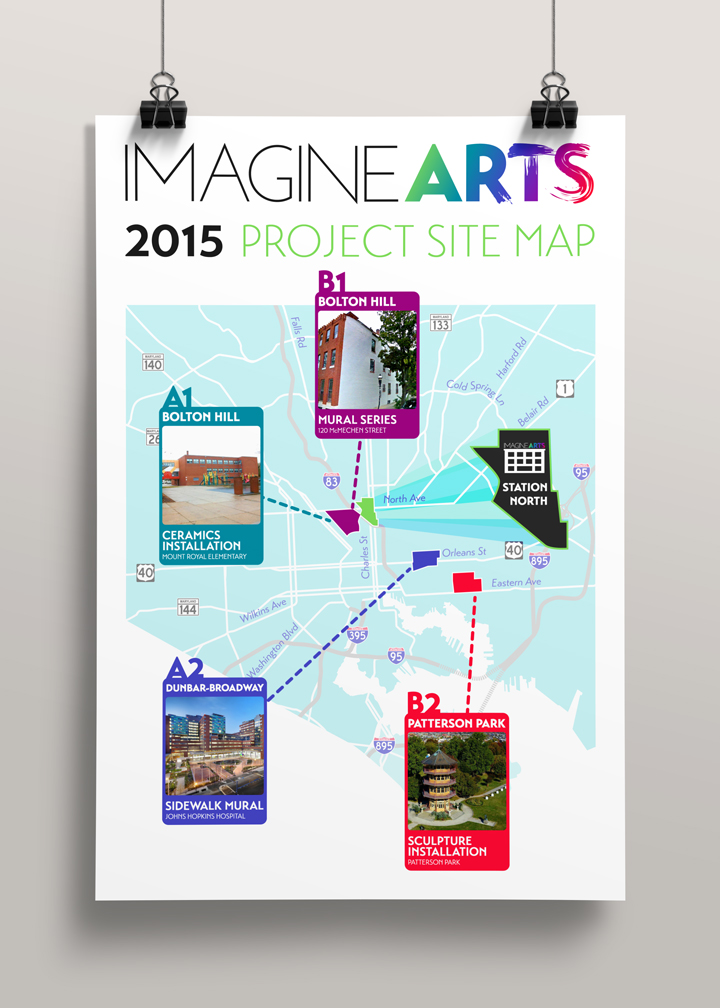 imagineARTS Project Site Map